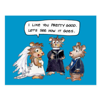 Abrahamster Funny Wedding Vows Postcard