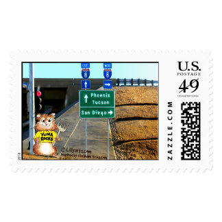 Abrahamster in Yuma Custom Postage Stamps