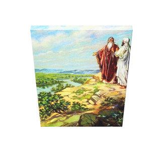 Abram and Lot Separate Genesis 13 Canvas Print
