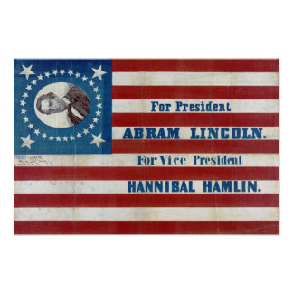 Abram Lincoln Presidential Campaign Vintage Poster