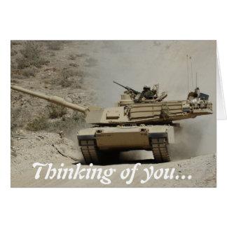 Abrams Tank Greeting Card