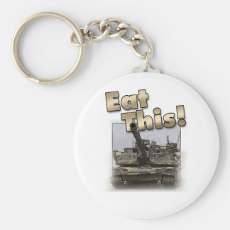 Abrams Tank - Eat This! Basic Round Button Keychain