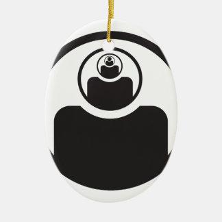 ábrase el tercer ojo adorno navideño ovalado de cerámica