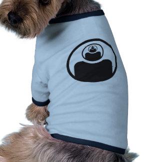 ábrase el tercer ojo camiseta con mangas para perro