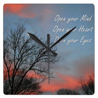 Ábrase mente, corazón y los ojos/inspiración reloj