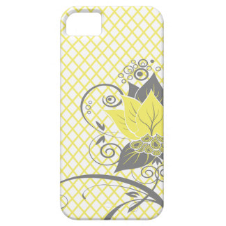 Abraxas Abstract Floral Fishnet   yellow charcoal iPhone SE/5/5s Case