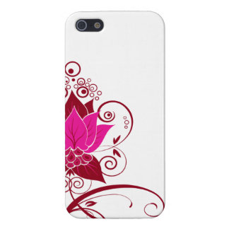 Abraxas Abstract Floral fuschia Cover For iPhone SE/5/5s