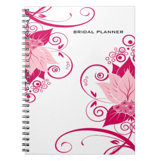 Abraxas Abstract Floral pink magenta Planner Notebook