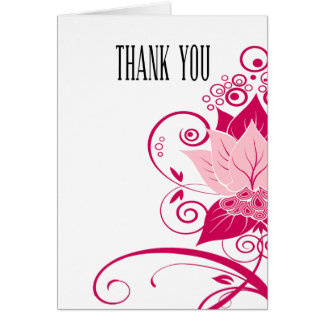 Abraxas Abstract Floral | pink Thank You Card
