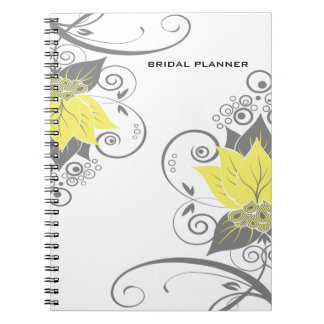 Abraxas Abstract Floral yellow charcoal Planner Journal