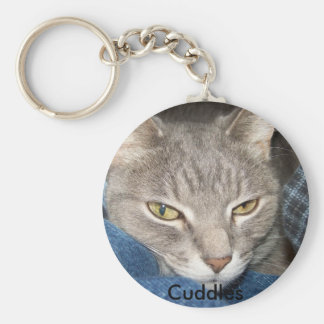 Abraza el gatito keychain. llavero redondo tipo pin