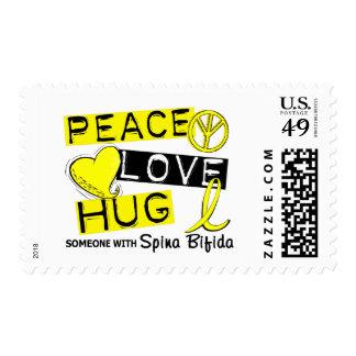 Abrazo 1 Spina del amor de la paz bífido Sellos