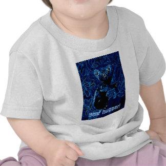 Abrazo azul del árbol de la koala camiseta