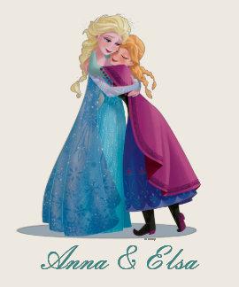 Abrazo de Ana y de Elsa Camisetas