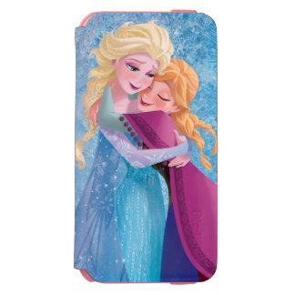 Abrazo de Ana y de Elsa Funda Billetera Para iPhone 6 Watson