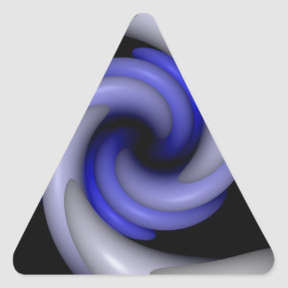 Abrazo de colmillos pegatina triangular