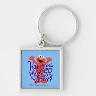 Abrazo de Elmo Llavero Cuadrado Plateado