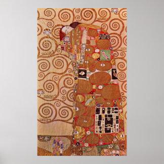 Abrazo de Gustavo Klimt Posters