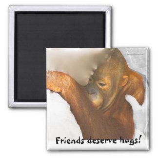 Abrazo de la amistad imán para frigorifico