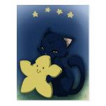 Abrazo de la estrella tarjeta postal