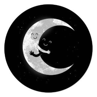 Abrazo de la luna - círculo de la invitación