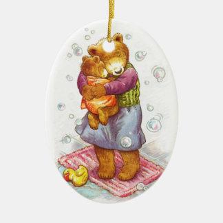 Abrazo de la mamá oso adorno