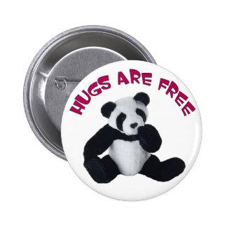 Abrazo de la panda pins