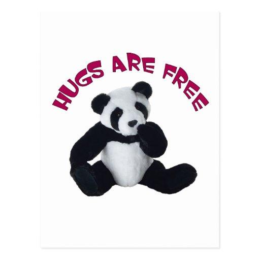 Abrazo de la panda tarjeta postal