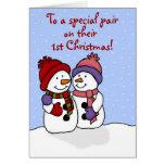 Abrazo de la tarjeta de Navidad de los gemelos de