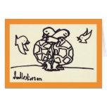 Abrazo de la tortuga - tarjeta de felicitación