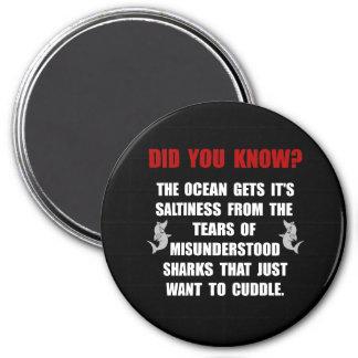 Abrazo de los tiburones imán redondo 7 cm