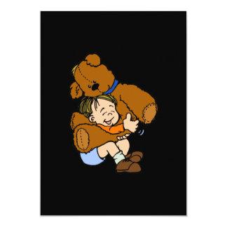 Abrazo de oso gigante de peluche invitacion personal