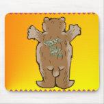 Abrazo de oso Mousepad Tapete De Ratón