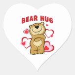 Abrazo de oso pegatina corazón personalizadas