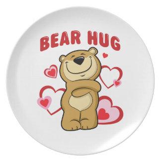 Abrazo de oso plato de comida