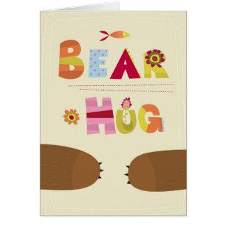 Abrazo de oso tarjetón