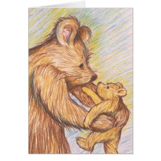 Abrazo de oso tarjeta pequeña
