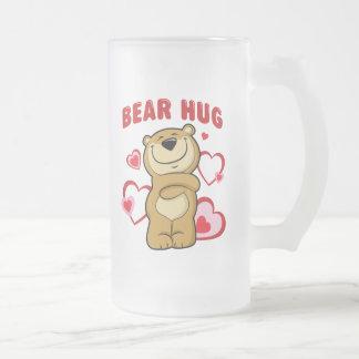 Abrazo de oso taza de cristal