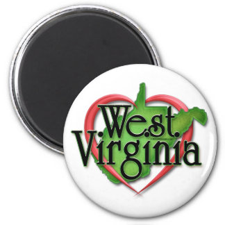 Abrazo del amor de Virginia Occidental Imán De Frigorifico