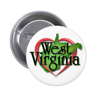 Abrazo del amor de Virginia Occidental Pins