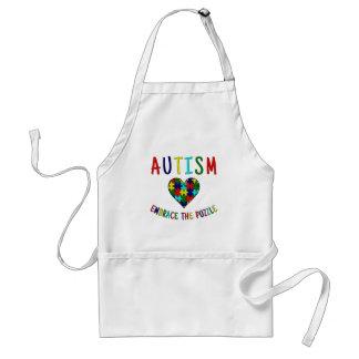 Abrazo del autismo el rompecabezas delantal