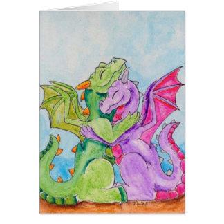 Abrazo del dragón tarjeta de felicitación