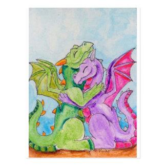 Abrazo del dragón postales