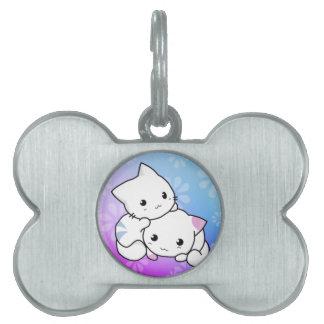 Abrazo del gatito placas mascota