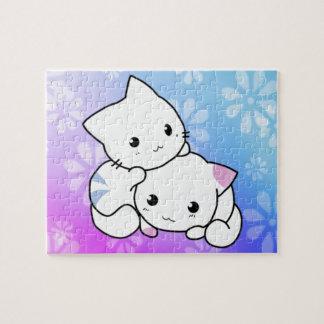 Abrazo del gatito rompecabeza con fotos