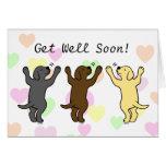 Abrazo del grupo de los perritos de Labrador Felicitacion