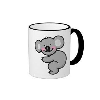Abrazo del oso de koala taza de dos colores