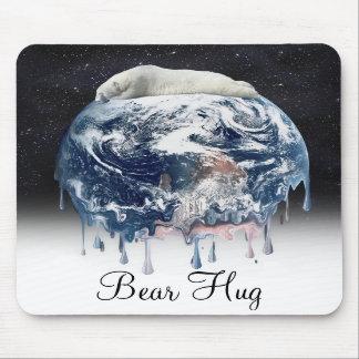 Abrazo del oso de la tierra (fondo del universo de tapetes de ratones