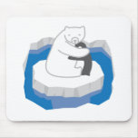Abrazo del oso polar alfombrillas de ratones