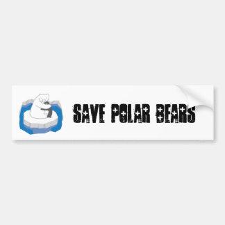 Abrazo del oso polar pegatina de parachoque